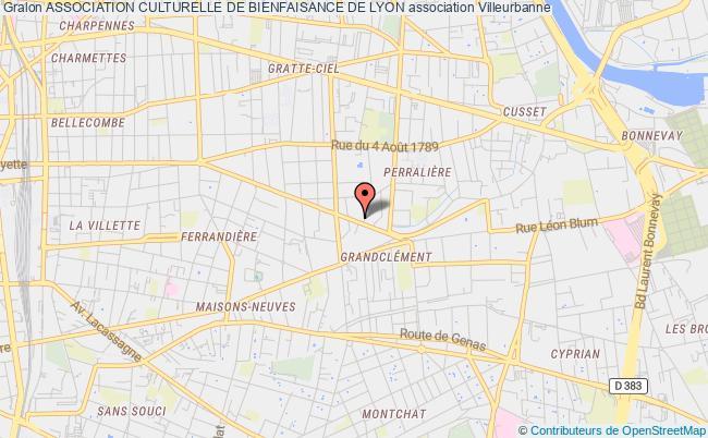 plan association Association Culturelle De Bienfaisance De Lyon