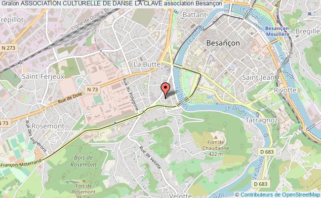 plan association Association Culturelle De Danse La Clave Besançon