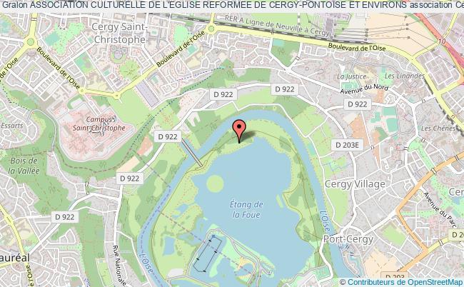 plan association Association Culturelle De L'eglise Reformee De Cergy-pontoise Et Environs Cergy