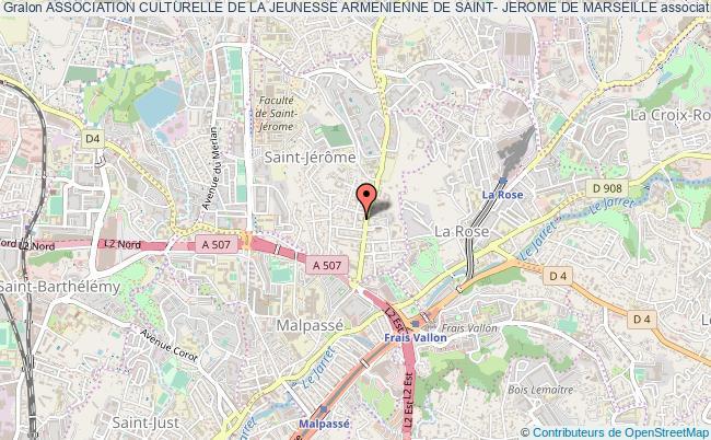 plan association Association Culturelle De La Jeunesse Armenienne De Saint- Jerome De Marseille