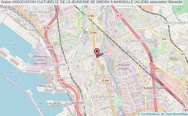 plan association Association Culturelle De La Jeunesse De Diboini À Marseille (acjdm)