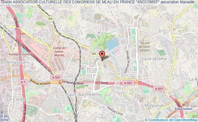 """plan association Association Culturelle Des Comoriens De Mlali En France """"asccomef"""""""