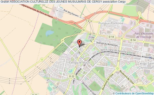 plan association Association Culturelle Des Jeunes Musulmans De Cergy Cergy