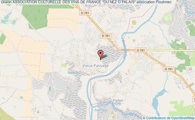 """plan association Association Culturelle Des Vins De France """"du Nez O Palais"""""""