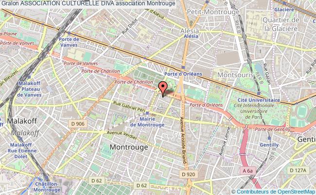 plan association Association Culturelle Diva Montrouge