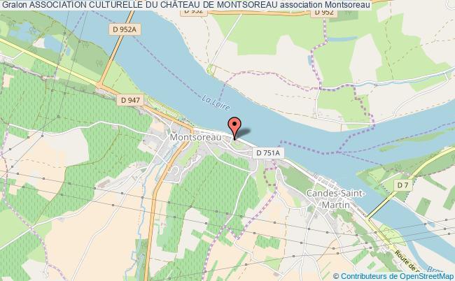 plan association Association Culturelle Du ChÂteau De Montsoreau
