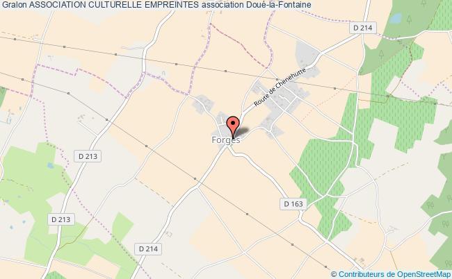 plan association Association Culturelle Empreintes Doué-en-Anjou