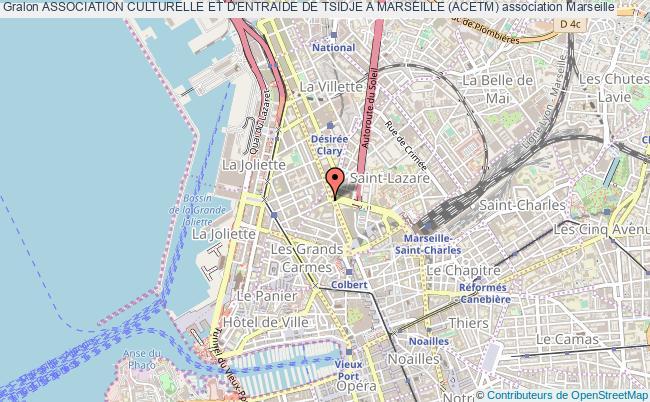 plan association Association Culturelle Et D'entraide De Tsidje A Marseille (acetm)