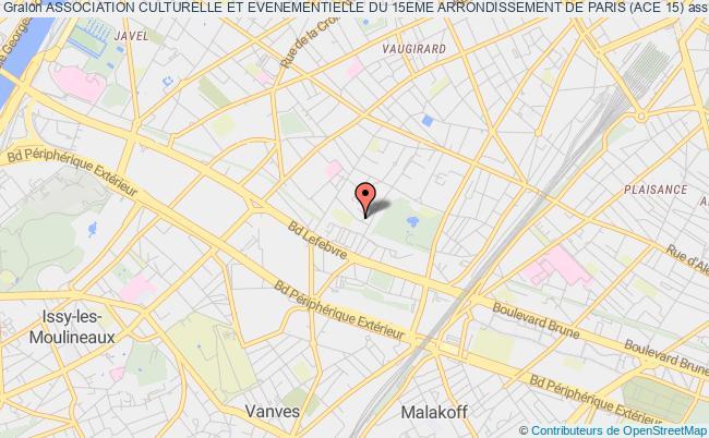 plan association Association Culturelle Et Evenementielle Du 15eme Arrondissement De Paris (ace 15)