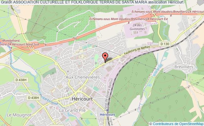 plan association Association Culturelle Et Folklorique Terras De Santa Maria