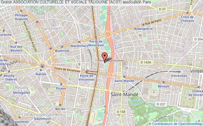 plan association Association Culturelle Et Sociale Taliouine (acst)