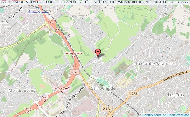 plan association Association Culturelle Et Sportive De L'autoroute Paris Rhin Rhone - District De Besancon
