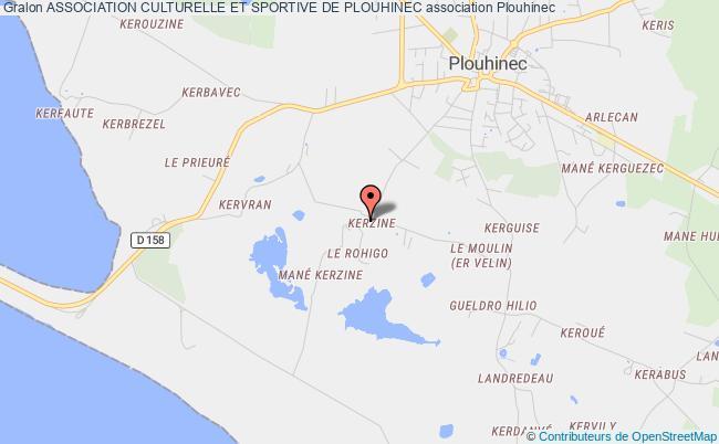 plan association Association Culturelle Et Sportive De Plouhinec