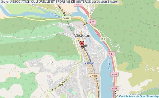 plan association Association Culturelle Et Sportive De Sisteron