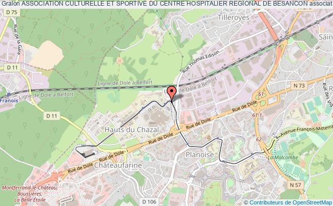 plan association Association Culturelle Et Sportive Du Centre Hospitalier Regional De Besancon Besançon cedex