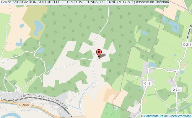 plan association Association Culturelle Et Sportive Thanalogienne (a. C. S.t.) Thénioux