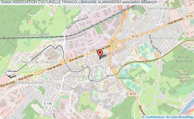 plan association Association Culturelle Franco-libanaise Almawadah