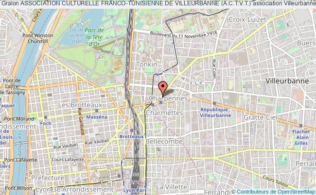 plan association Association Culturelle Franco-tunisienne De Villeurbanne (a.c.t.v.t.)