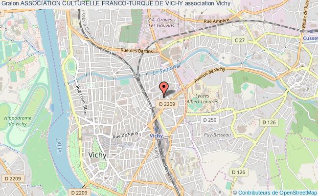 plan association Association Culturelle Franco-turque De Vichy