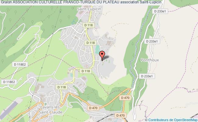 plan association Association Culturelle Franco-turque Du Plateau