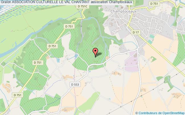 plan association Association Culturelle Le Val Chantant