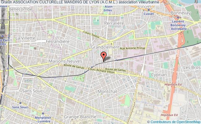 plan association Association Culturelle Manding De Lyon (a.c.m.l.)