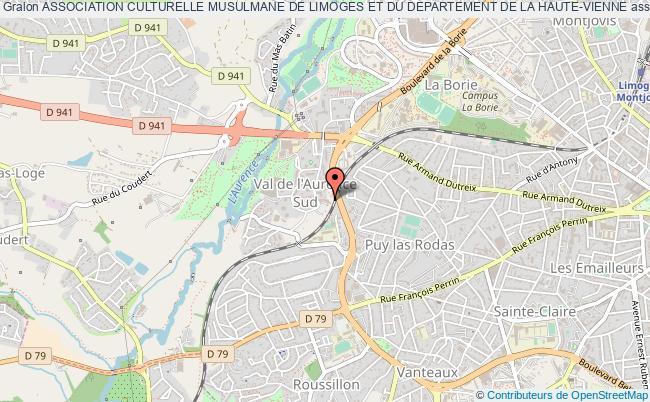 plan association Association Culturelle Musulmane De Limoges Et Du Departement De La Haute-vienne