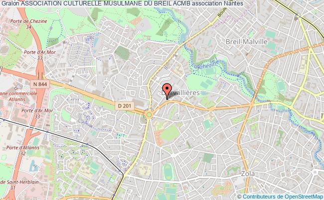 plan association Association Culturelle Musulmane Du Breil Acmb