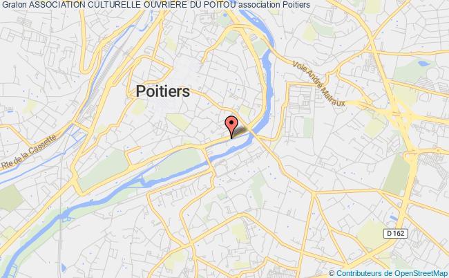 plan association Association Culturelle Ouvriere Du Poitou