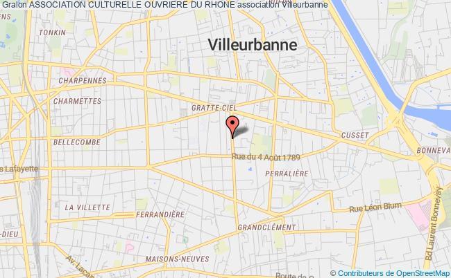 plan association Association Culturelle Ouvriere Du Rhone