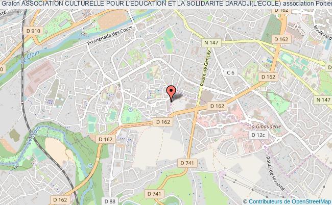 plan association Association Culturelle Pour L'education Et La Solidarite Daradji(l'ecole) Poitiers
