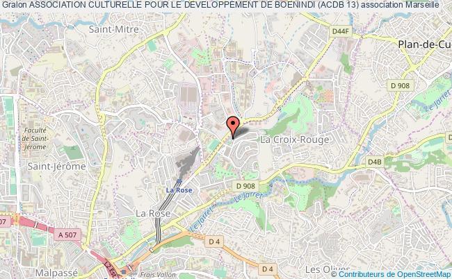 plan association Association Culturelle Pour Le Developpement De Boenindi (acdb 13) Marseille