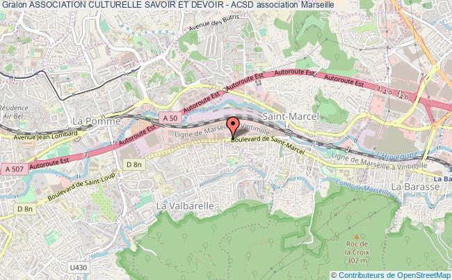 plan association Association Culturelle Savoir Et Devoir - Acsd Marseille