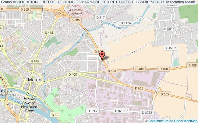 plan association Association Culturelle Seine-et-marnaise Des RetraitÉs Du Snuipp-fsu77 Melun