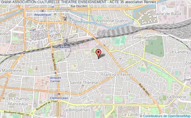 plan association Association Culturelle Theatre Enseignement - Acte 35