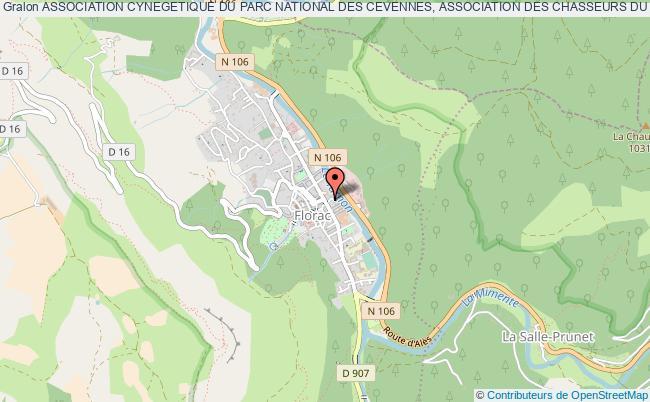 plan association Association Cynegetique Du Parc National Des Cevennes, Association Des Chasseurs Du Parc