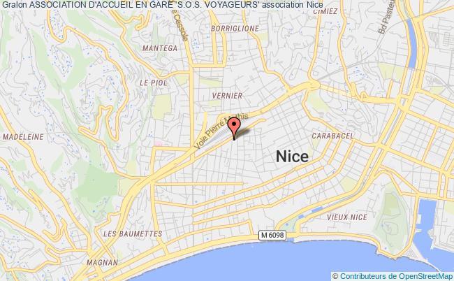 plan association Association D'accueil En Gare 's.o.s. Voyageurs' Nice