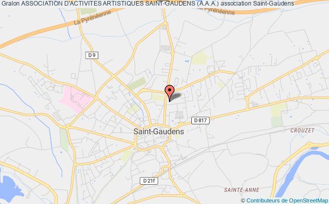 plan association Association D'activites Artistiques Saint-gaudens (a.a.a.) Saint-Gaudens