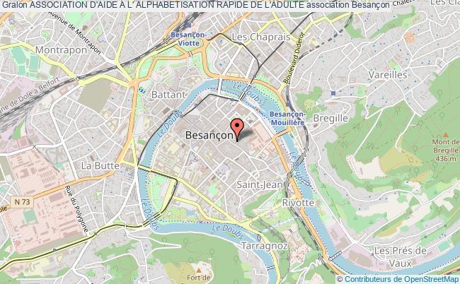 plan association Association D'aide A L' Alphabetisation Rapide De L'adulte Besançon