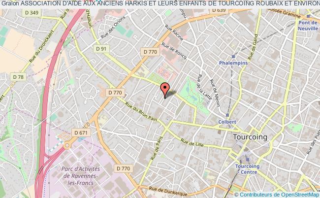 plan association Association D'aide Aux Anciens Harkis Et Leurs Enfants De Tourcoing Roubaix Et Environs Tourcoing