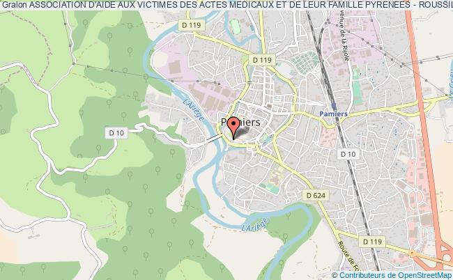 plan association Association D'aide Aux Victimes Des Actes Medicaux Et De Leur Famille Pyrenees - Roussillon