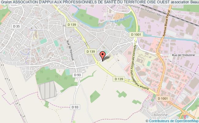 plan association Association D'appui Aux Professionnels De SantÉ Du Territoire Oise Ouest Beauvais