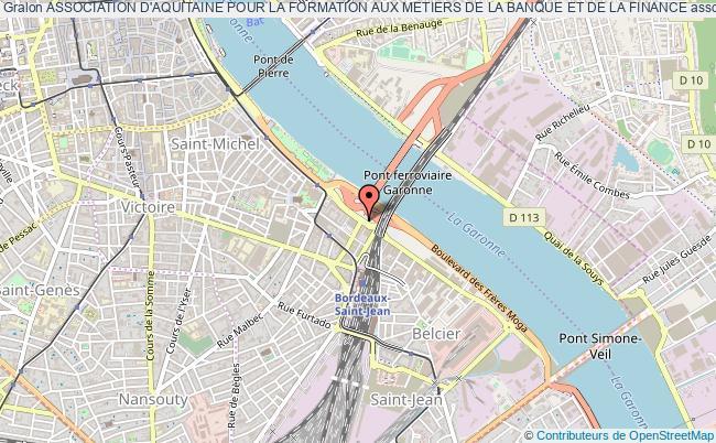 plan association Association D'aquitaine Pour La Formation Aux Metiers De La Banque Et De La Finance Bordeaux