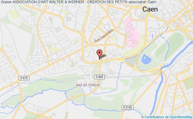 plan association Association D'art Walter & Werner - CrÉation Des Petits Caen