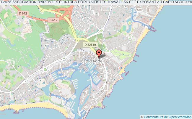 plan association Association D'artistes Peintres Portraitistes Travaillant Et Exposant Au Cap D'agde Agde