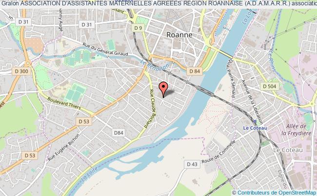 plan association Association D'assistantes Maternelles Agreees Region Roannaise (a.d.a.m.a.r.r.)