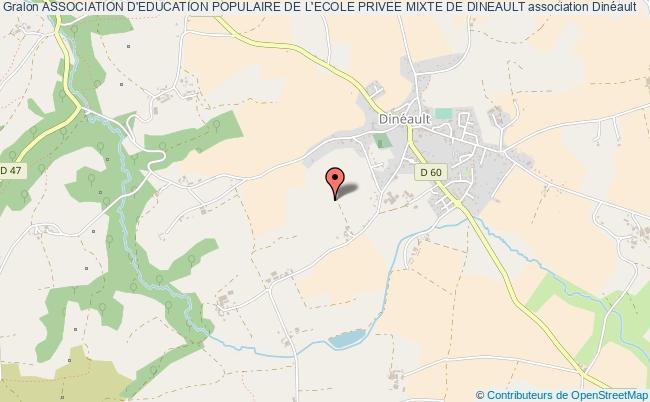 plan association Association D'education Populaire De L'ecole Privee Mixte De Dineault