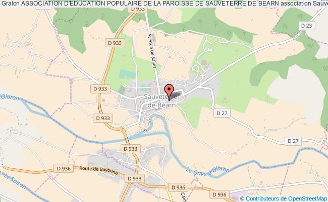 plan association Association D'education Populaire De La Paroisse De Sauveterre De Bearn