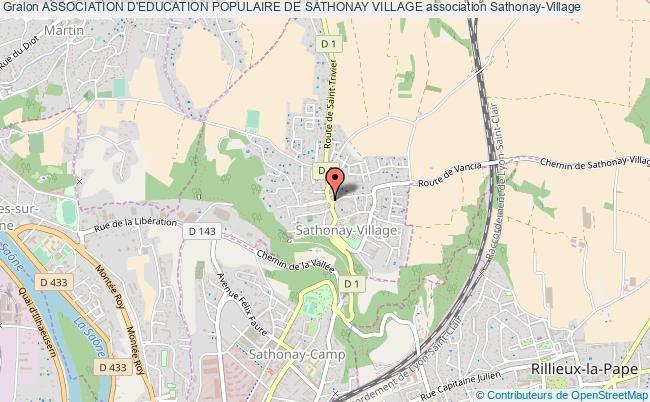 plan association Association D'education Populaire De Sathonay Village