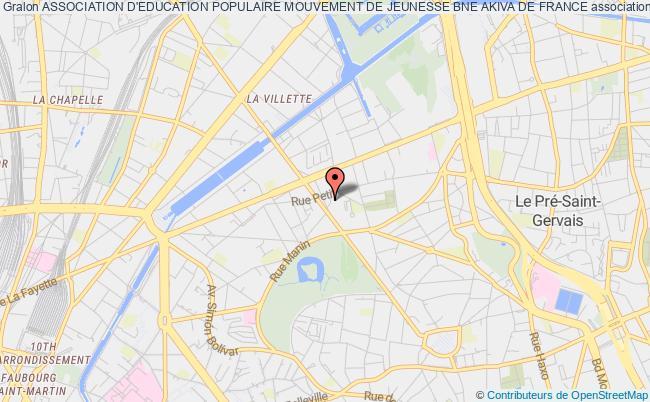 plan association Association D'education Populaire Mouvement De Jeunesse Bne Akiva De France